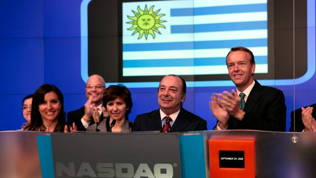 Gonzalo Fernandez, Uruguay Minister of Foreign Affairs, Rings the NASDAQ Opening Bell.