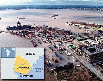 "Uruguay admits ""modest"" impact from global slowdown."